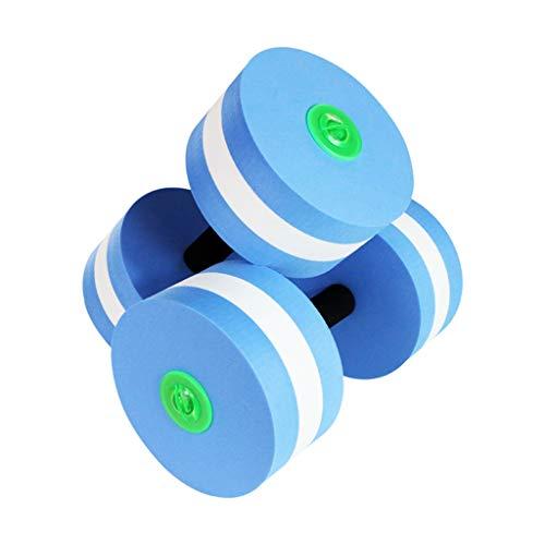 QUICATCH Water Dumbbells Aquatic Fitness Barbells Foam Dumbbells Hand Bar Pool Exercise Detachable 1 Pair (Blue) ()