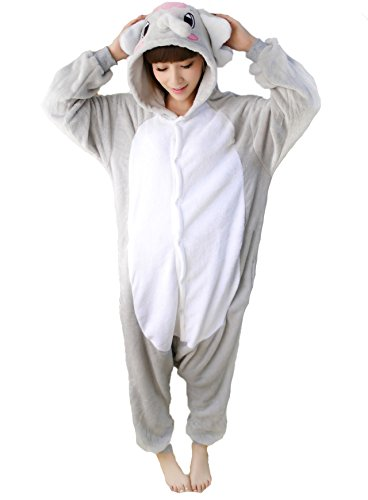 Adults Onesies - Animal Women Mens Grey Elephant Onesie Costumes Cosplay Outfit Pajamas Small (Elephant Onesies For Adults)