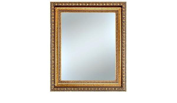e2137f65261 Amazon.com  Alpine Fine Furniture 4404K Lucia 30 x 34 in. Vintage Gold  Framed Wall Mirror - Decorative Gold  Home   Kitchen