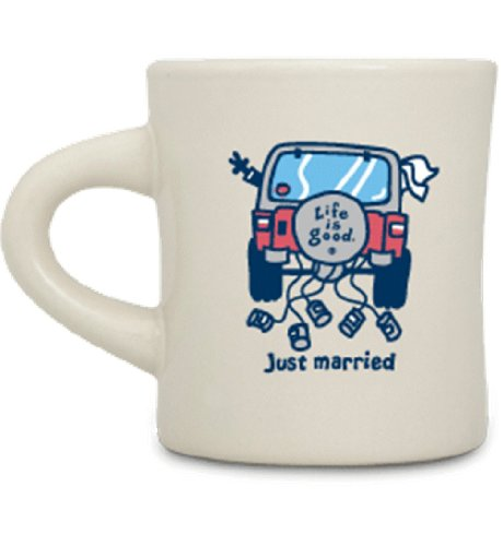 Life-Is-Good-Just-Married-Coffee-Mug-Off-white