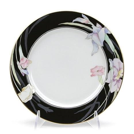 Amazon.com: Charisma Black by Mikasa, China Salad Plate: Kitchen ...
