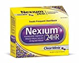 Nexium 24HR ClearMinis (20mg, 42 Count) Delayed Release Heartburn Relief Capsules, Esomeprazole Magnesium Acid Reducer - Pack of 5