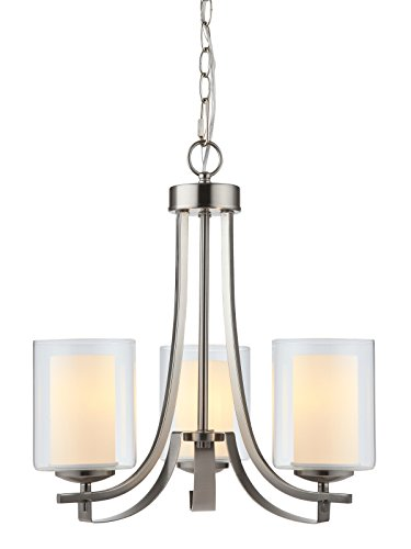 Hardware House LLC 20-7577 # 3-Light Chandelier Satin Nickel