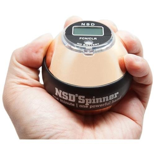 NSD Power Ultimate Winner's Precision Sterling Spinner Gyroscopic Wrist and Forearm Exerciser with Digital Speedometer, Lightweight Aluminum Rotor and Stainless Steel Shell by NSD Power