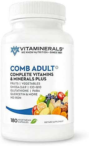 VITAMINERALS 2 CombAdult Comprehensive Vitamin Mineral Formula 180