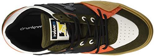 Th003 Multicolore Sneaker Mchawk Uomo Drunknmunky Black orange Dk Green n81x6