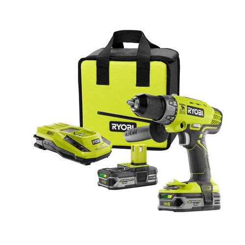 Ryobi ZRP1812 18-Volt ONE+ Lithium-Ion Cordless Hammer Drill/Driver Kit (Certified Refurbished)