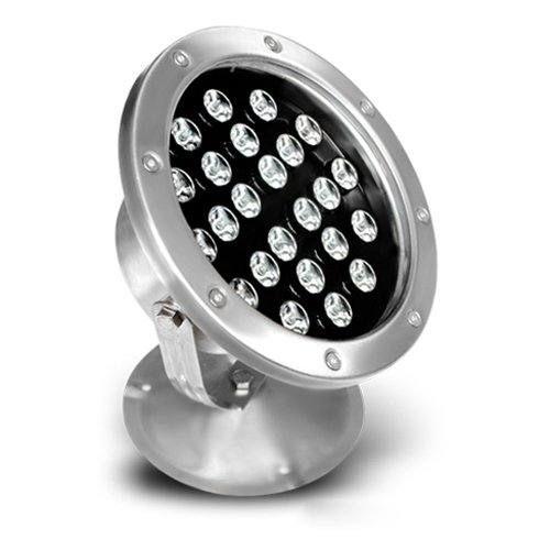 LUMINTURS 24W LED RGB Color Changing Spot Light Fixture Outdoor Underwater Flood Lamp Waterproof IP68 by Luminturs