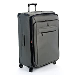 delsey luggage helium x 39 pert lite ultra light 4 wheel suiter upright gray 29 inch. Black Bedroom Furniture Sets. Home Design Ideas