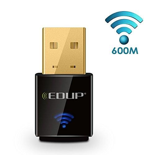 J-NET AC600 Dual Band(5GHz and 2.4GHz) wireless USB wifi adapter,For Device of Windows XP / Vista / 7 / 8 / 8.1 / 10 / MAC OS X 10 (Antenna Wifi Windows 7)