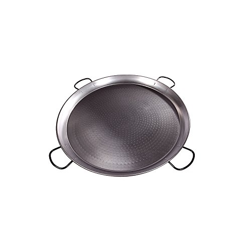 Paella Pan Polished Steel (Vaello Campos La Valenciana) 32 Inches / 80cm / up to 40 Servings / 4 ()