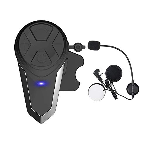 HuanGou Motorcycle Bluetooth Headset, BT-S3 Helmet Bluetooth Headset Speaker up to 3 Riders 1000M Motorcycle Helmet Bluetooth Communication Ski Helmet Bluetooth Headphones for Snowmobile (1 Pack)