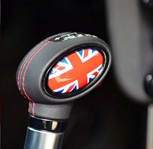 MINI Cooper / Cooper S Shifter Badge Automatic British Union Jack for Hardtop F55 4-Door, Hardtop F56, Convertible F57 & Clubman F54 ()