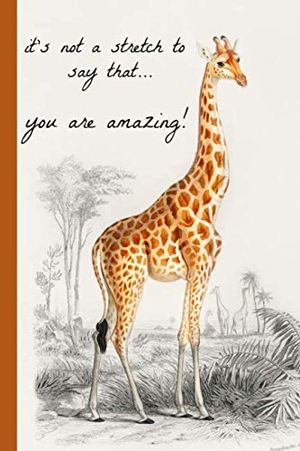 It's not a stretch to say that...you are amazing!: Giraffe, Novelty, Blank Lined notebook, Perfect for an Anniversary, Valentines gift or any special occasion(more useful than a -