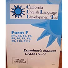Amazon ctb mcgraw hill books examiners manual grades 9 12 california english language development test form f fandeluxe Image collections