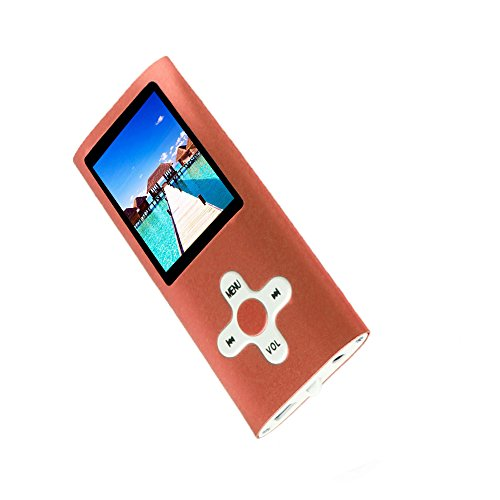 RHDTShop Portable MP3 Player, with a 16GB SD card, MP3 format music, AMV format Video, Perfect Gifts, Orange