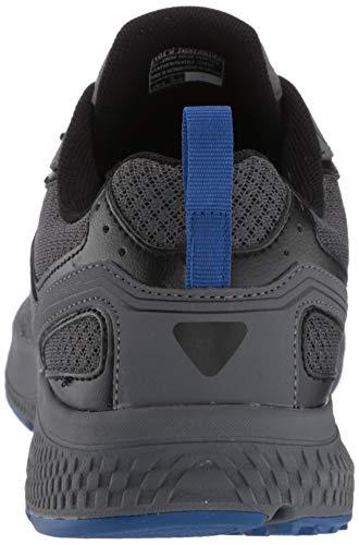 Skechers Men's Go Run Consistent-Performance Running & Walking Shoe Sneaker, Charcoal/Blue, 16 X-Wide