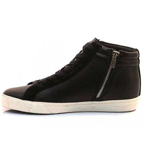 Guess Scarpe-Sneakers Alta Donna Holly Nero FLHOL1ELE12
