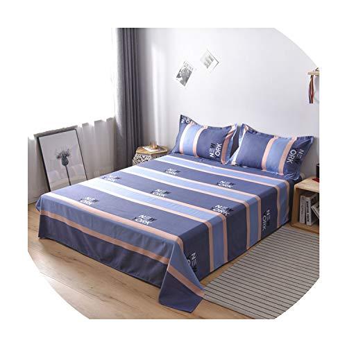 Bed Set 1Pcs Bed Sheet Printed Bedding Fitted Sheet Mattress Cover Bedspreads +2 Pcs Pillowcase Queen Full Twin Flat Bedsheet,V-8,230X250Cm