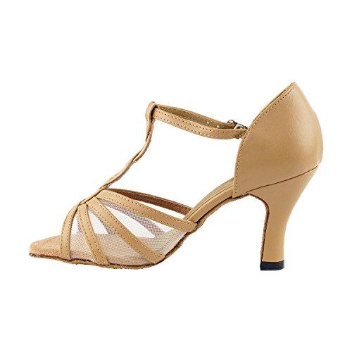 """Gold Taube Schuhe 50 Shades Of Tan Tanzkleid Schuhe Collection-III, Komfort Abend Hochzeit Pumps: Ballroom Schuhe für Latein, Tango, Salsa, Swing, Kunst von Party Party (2,5 """", 3"""", 3,5 """"Heels) 1692 Beige Leder & Mesh"""