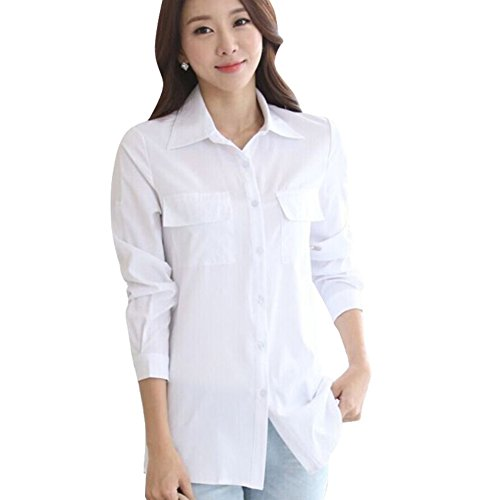 Hengzhi Womens Sleeve Casual Button