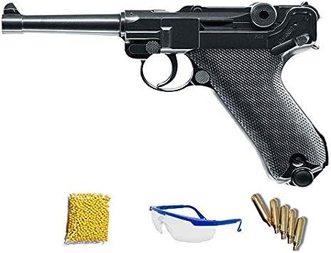 Umarex Legends P08 (6mm) - Pistola de Airsoft Calibre 6mm (Arma Corta de Aire Suave de Bolas de plástico o PVC). Sistema: CO2 <3,5J