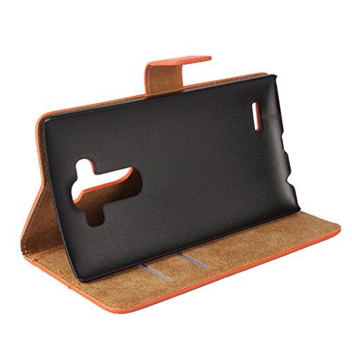 Trumpshop Smartphone Carcasa Funda Protección para LG G5 + Negro + Ultra Delgada Cuero Genuino Caja Protector con Función de Soporte Ranuras para Tarjetas Crédito Choque Absorción Azul