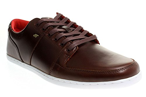 Boxfresh Spencer BSC Leather Black Maz Blue toffee/fir red