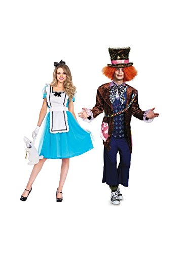Mad Hatter and Alice Adventure Couple Costume Kit (Large)