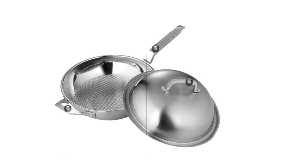 Con Antiadherente Sartenes Olla De Acero Inoxidable Sartén Para Todo Tipo De Cocinas Olla Multiuso 32 Cm: Amazon.es: Hogar
