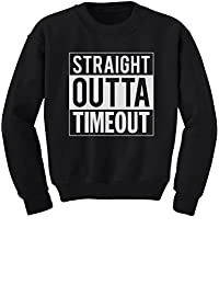 TeeStars - Straight Outta Timeout Funny Toddler/Kids Sweatshirts 2T Black