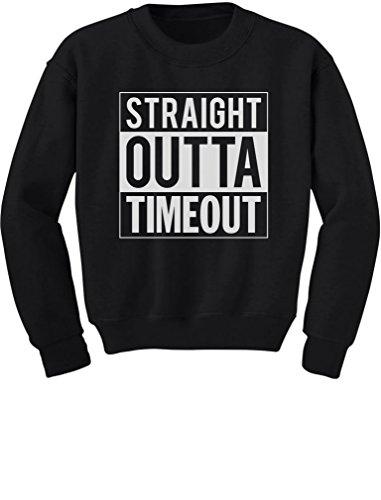 TeeStars - Straight Outta Timeout Funny Toddler/Kids Sweatshirts 2T Black