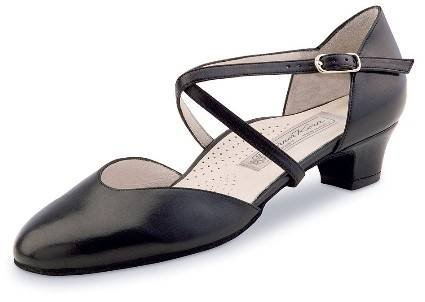 Werner Kern Womens Felice 3.4 Black Leather (Comfort Line) - American 7 / European 4 by Werner Kern