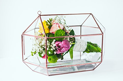 Wedding Bouquet Geometric Glass Card box Wedding box Wedding planner Bridesmaid Gift Wedding decor