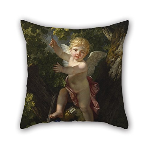 MeiGi Oil Painting Jean-Jacque-François Le Barbier - Cupid In A Tree Throw Pillow Covers 18 X 18 Inches / 45 By 45 Cm For Couples Bar Home Theater Couples Bedding Divan With Twin Sides (Gel Pedic Pet Bed Cover)