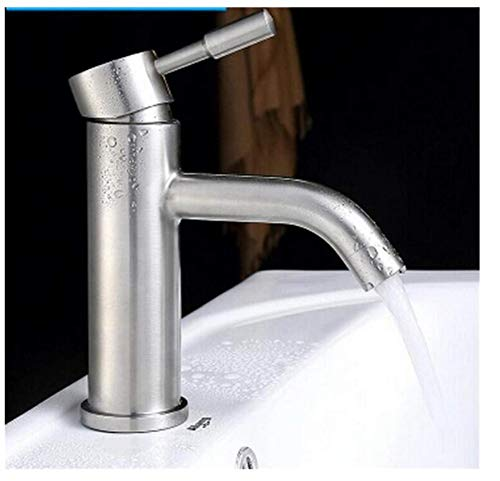 Brass Wall Faucet Chrome Brass Faucet No Lead Single Lever Hot and Cold Bathroom Sink Faucet Basin Faucet