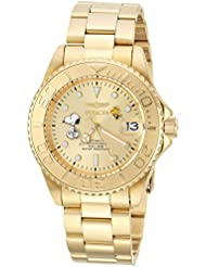 Invicta Mens Character Collection Automatic Stainless Steel Diving Watch, Color:Gold-Toned (Model: 24788)
