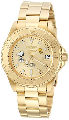 Invicta Men's 'Character Collection' Automatic Stainless Steel Diving Watch, Color:Gold-Toned (Model: 24788) by Invicta