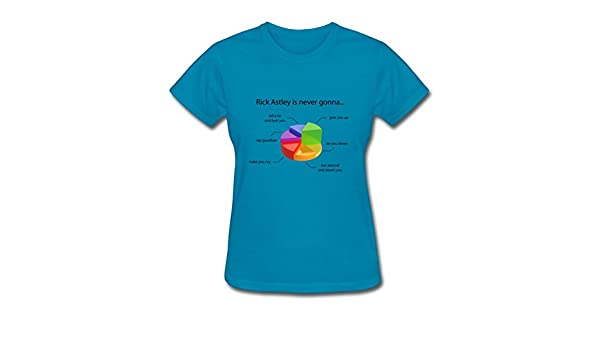 Rick Astley Pie Chart Women T Shirt Offer Xxx Large Size Amazon
