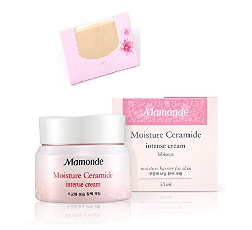 mamonde-moisture-ceramide-intense-cream-50ml-soltreebundle-natural-hemp-paper-50pcs