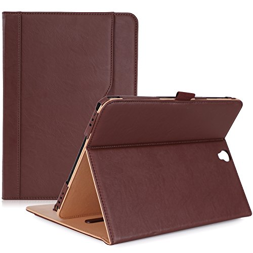 ProCase Samsung Galaxy Tab S3 9.7 Case, Stand Folio Case Cover for Galaxy Tab S3 Tablet (9.7 Inch, SM-T820 T825), with Multiple Viewing Angles, Document Card Pocket - Brown