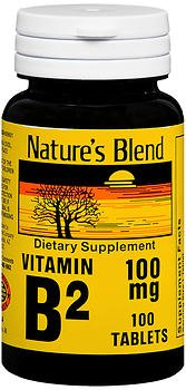 Nature's Blend Vitamin B2 100 mg - 100 Tablets, Pack of 5