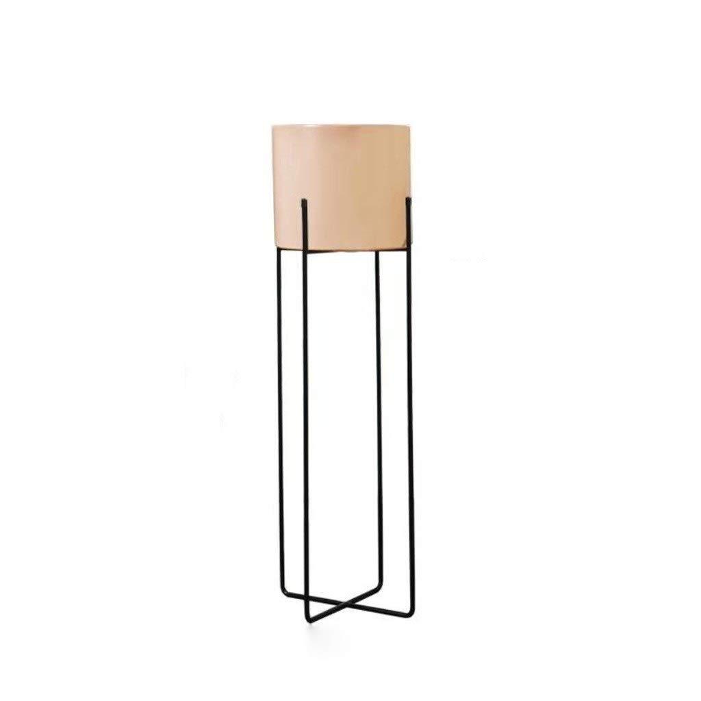 Pet harem AA- X35820 Nordic Metall Balkon Wohnzimmer Fensterbank Einfache Blume Rahmen Mode Kreative Blumentopf Rack 0426 (Farbe : Rosa, größe : 80 * 23cm)