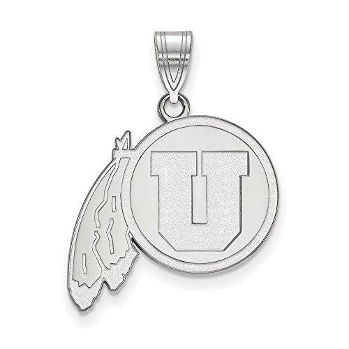 Utah Large (3/4 Inch) Pendant (14k White Gold) by LogoArt