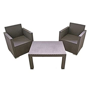 Gartenmöbel set lounge  Amazon.de: Lounge Gartenmöbel Set klein Polyrattan-Optik
