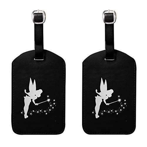 (Luggage Tags Tinkerbell Platinum Name ID Labels For Travel Suitcase Baggage Bag Set Of 2)