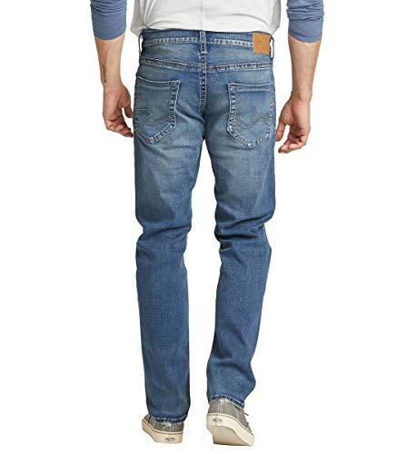 Silver Jeans Co. Men's Eddie Relaxed Fit Tapered Leg Jeans