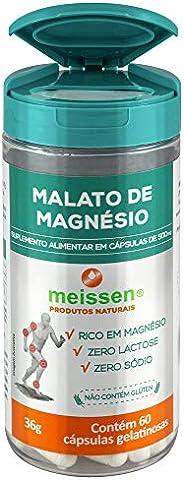 Malato de Magnésio 500Mg 60 Cápsulas, Meissen