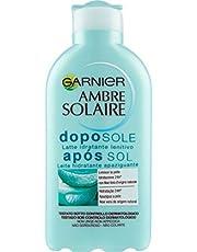 Garnier Ambre Solaire Crema Doposole Aloe Vera, Latte Idratante Lenitivo, Formula Arricchita con Aloe Vera, 200 ml, Confezione da 1