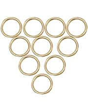 SUPVOX 10pcs Gold Round Brass Rings - 1 Inch Solid Metal Hoop Ring for Dream Catcher Crafts Accessories
